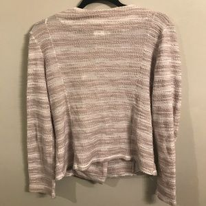 Anthropologie Sweaters - Dolan exposed zipper striped cardigan size large
